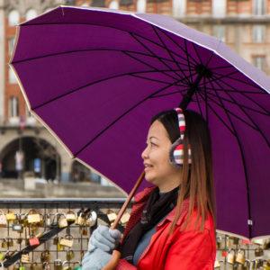 Parapluie violet
